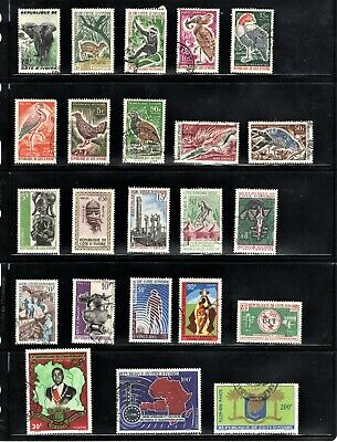 Hick Girl Stamp- Beautiful Used Ivory Coast  Stamp  Assortment      L786