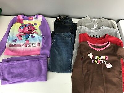 Girls Size Medium 7/8 Fall Winter Clothing Lot 7 Piece Justice