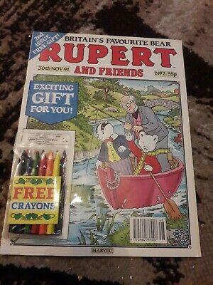 Rupert And Friends Comic issue 2 Nov 30th 91 with free gift attached