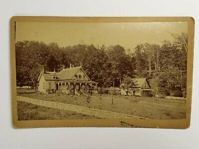 """Antique Taylor Boarding House NC Cabinet Card Lg Cab Card 5""""x8"""" Photo Photograph"""