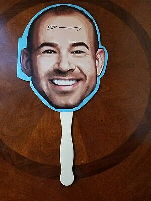 Impractical Jokers Block Party autographed Murray Face Fan from 2018 SDCC