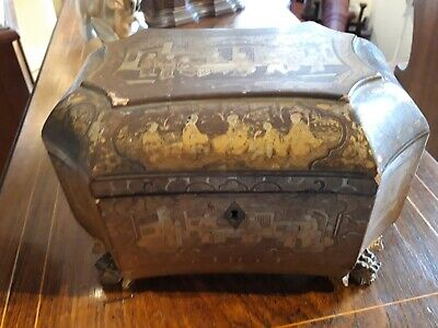 Antique Chinese laquer box. FREE WORLDWIDE SHIPPING.
