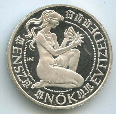 GS1187 - Hungary 500 Forint 1984 BP KM#640 UNC Silver Decade for Women Proof