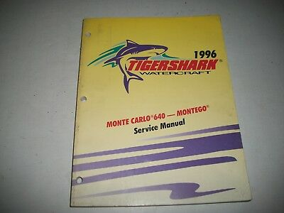 1996 Tigershark Watercraft Service Manual Monte Carlo 640 Montego