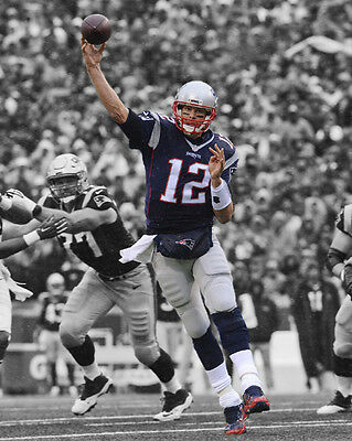 New England Patriots TOM BRADY Glossy 8x10 Photo Spotlight Football Print Poster