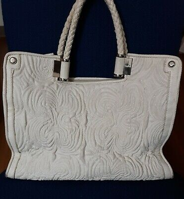 f8a8b17932a2 Beautiful Pre-Owned White Leather Shoulder Bag by Ivanka Trump ☆ SHIPS  FREE! ☆