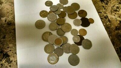 Unsorted BULK LOT OF 40 ASSORTED WORLD/FOREIGN COINS! MOSTLY 20TH CENTURY