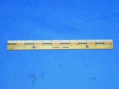 "Vtg 90/'s SAN Roll N Ruler 12/"" 30CM Acrylic METRIC Parallel T-Square Protractor"