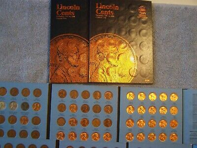 1941-1974 WHEAT & MEMORIAL CENTS in WHITMAN FOLDER - A lot of Uncirculated Cents