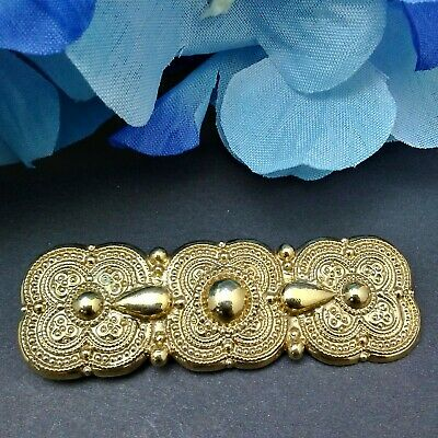 Mamas Estate Vintage 1928 Brand Gold Tone Brooch Pin Unsigned Lot# R1-26*