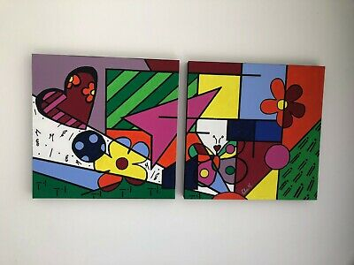 "ABSTRACT ACRYLIC PAINTING ON CANVAS 48"" X 24"". Original painting, hand painted,"
