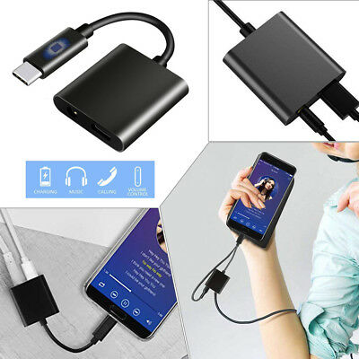 2 in1 USB Type C Male to 3.5mm Female Stereo Earphone Converter&Charging Adapter