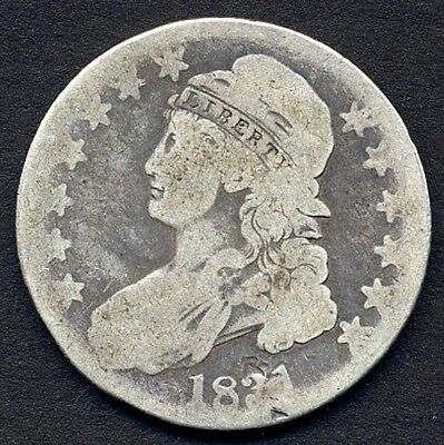 1831 Capped Bust Lettered Edge Bust Half Dollar – Low Grade