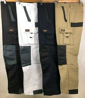 "Tradie Men Heavy Duty Cotton Drill Canvas Cargo Work Pants, 3 Color Size 30""-46"""