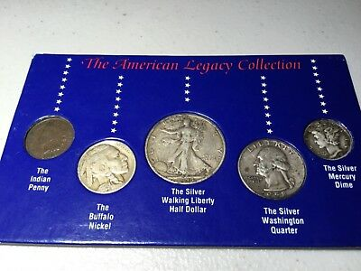 The American Legacy Coin Collection - 5 Vintage US Coin Set