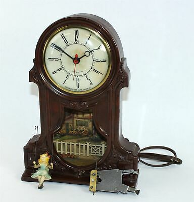 """Vintage Mastercrafters """"swinging Girl"""" Electric Clock - Wr158"""