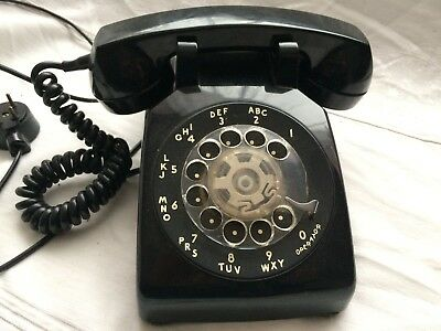 Vintage Black Bell System by Western Electric Rotary Dial Desk Telephone WORKS