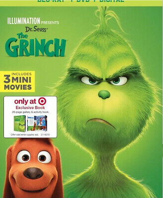 Dr. Seuss' The Grinch (Blu-Ray+DVD+Digital), 26-page gallery Target Exclusive