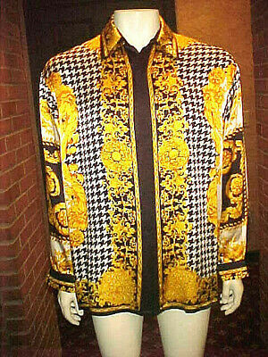84caf9ff2 Herrenmode Versace Mens Iconic Baroque Print Tank Vest Top NEW AUTH shirt S  M L