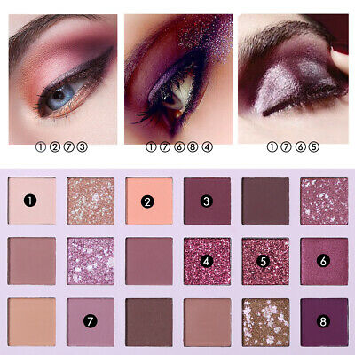 UCANBE Aromas Nude Eyeshadow Palette 18 Color Matte Glitter Eye Shadow G3fQ