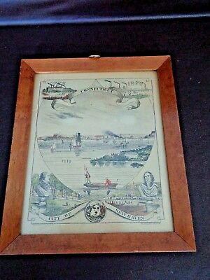 City of New Haven, Connecticut 1776-1876 Hand Colored Lithograph (Cat.#A8003)