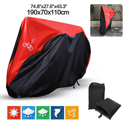 Red Universal 1 Bicycle Bike Waterproof Rain Cover Dust Resistant UV Protection
