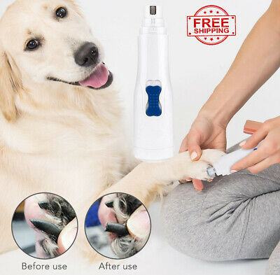Professional Electric Cat Dog Pet Nail Trimmer Grinder Clipper Grooming Tool Kit