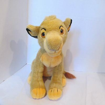 """Disney Store Plush Young Simba 13"""" Tall  Toy The Lion King Sitting"""