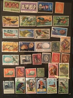 35 All Different St Vincent Stamps