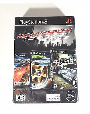 Need for Speed Collector's Series Sony PlayStation 2 2006 PS2 (3 Games)
