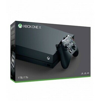 Microsoft Xbox One X 1TB, 4K Gaming Console, Black USED ONCE ONLY! IN RETAIL BOX