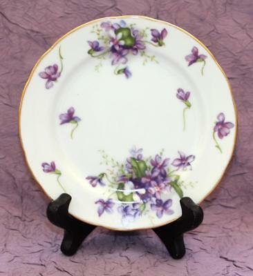 Rossetti Spring Violets Bread & Butter Plate - Hand Painted - Occupied Japan