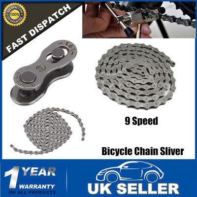 Durable 9 Speed Bicycle Chain 116 Links Sliver f HG73 Mountain Bike Road Bicycle