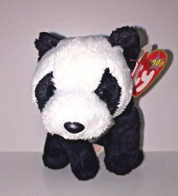TY Beanie Babies China Panda Bear Retired Plush Stuffed Animal NWT 2000