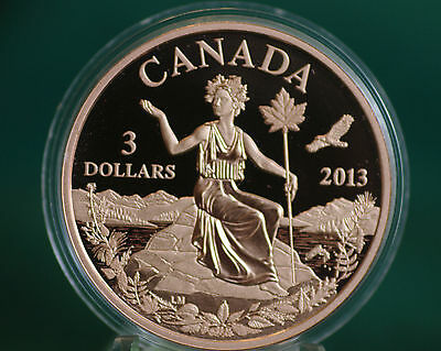 2013 CANADA Miss Canada $3 Allegory Bronze proof finish