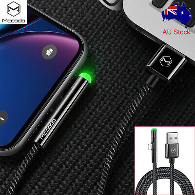 Mcdodo LED Lightning Data Charging Cable Charger for iPhone 8 7 6 Plus XR XS Max