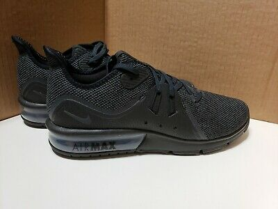 the latest add6a 479a5 Men s Nike Air Max Sequent 3 Running Shoes Black on Black Anthracite 921694- 010