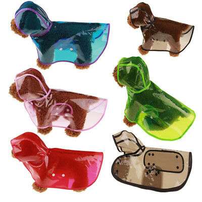 For Small Puppy Dogs Pet Rain coat Jacket Cute Casual Waterproof Dog Clothes US