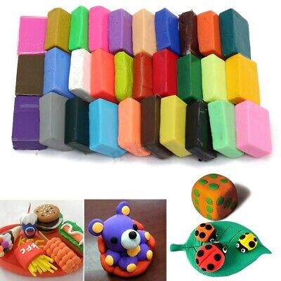 32 Color DIY Malleable Polymer Clay Soft Modelling Craft Block Plasticine Toys