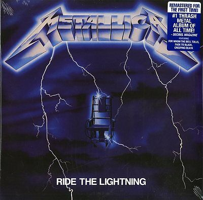 Metallica Ride The Lightning Vinyle Lp Remasterisé Neuf Et Emballé