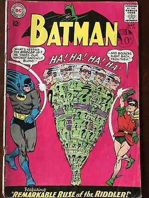 Batman #171 - May 1965 Unofficial Grade VG+/FN (6.0) DC First Silver Age Riddler