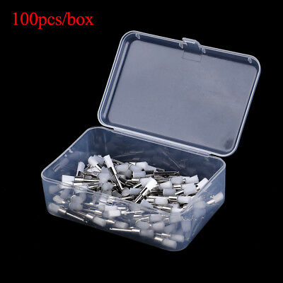 100Pcs Dental Polishing Polisher Prophy Cup Brush Brushes Nylon Latch Flat HGUK