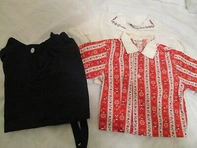 Antique Vtg 40s 50s Hi-Line Boys Easter  White Blazer Novelty Shirt Short Set