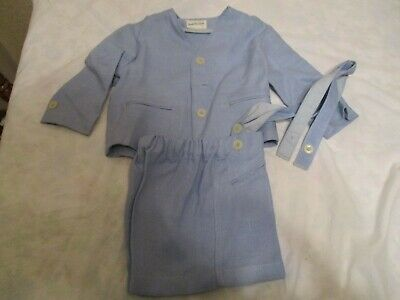 Antique Vtg 40s 50s Boys Jack Tar Togs Easter Suit Short Set Light Blue Size 2