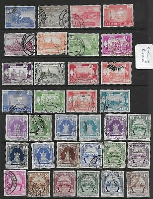 1948 Union Of Burma Excellent Vfu Selection Of 34 Different
