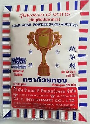 Agar Agar Powder Champion Gold Cup Gelatin Replacement Food Additive 25g