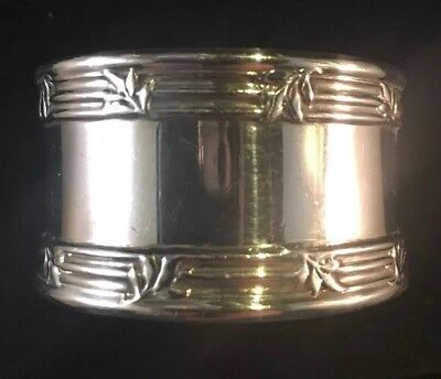 Tiffany Sterling Silver Napkin Ring No Monogram Floral Decorations