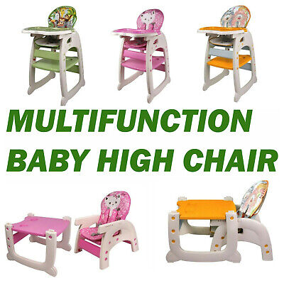 Infant High Chair Baby Toddler Eating Feeding Booster Seat Folding Adjustable UK