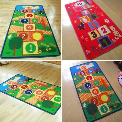 Children's Non-Slip Mats Baby Kids Hopscotch Jump Lattice Rug Carpet Play Mat