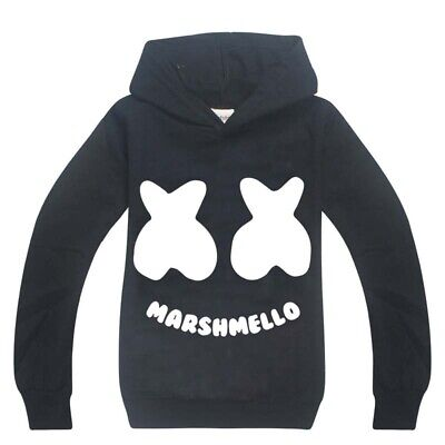 New DJ Marshmello Music Hoodies Kids Boys Casual Hoodies Tops Clothes Gift 2019